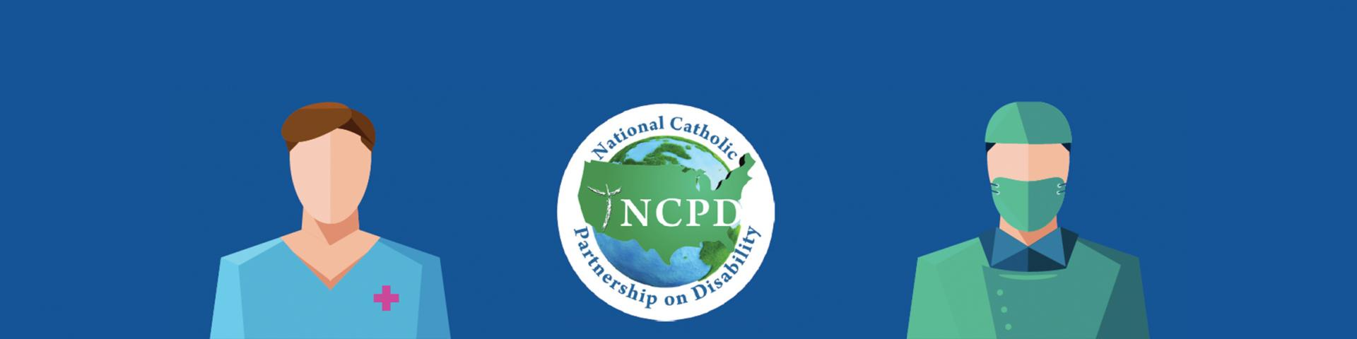 NCPD logo and two healthcare workers