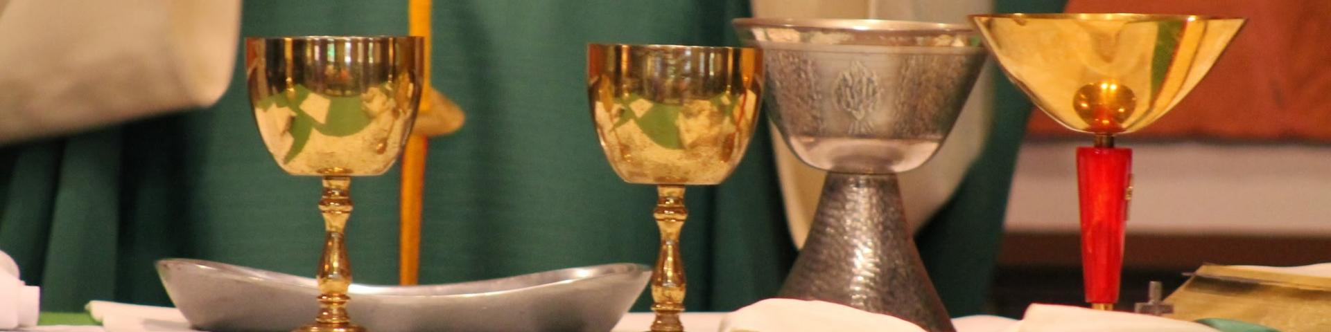 Picture of chalices during consecration