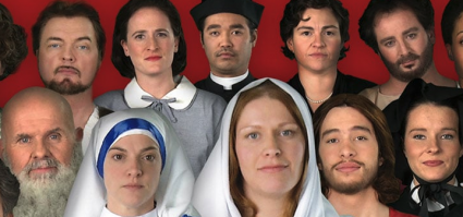 15 Deaf actors dressed up as saints