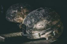 Picture of a military helmet
